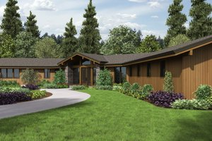 Contemporary Exterior - Front Elevation Plan #48-699