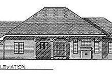 Dream House Plan - Traditional Exterior - Rear Elevation Plan #70-276