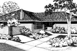 Modern Exterior - Front Elevation Plan #303-306