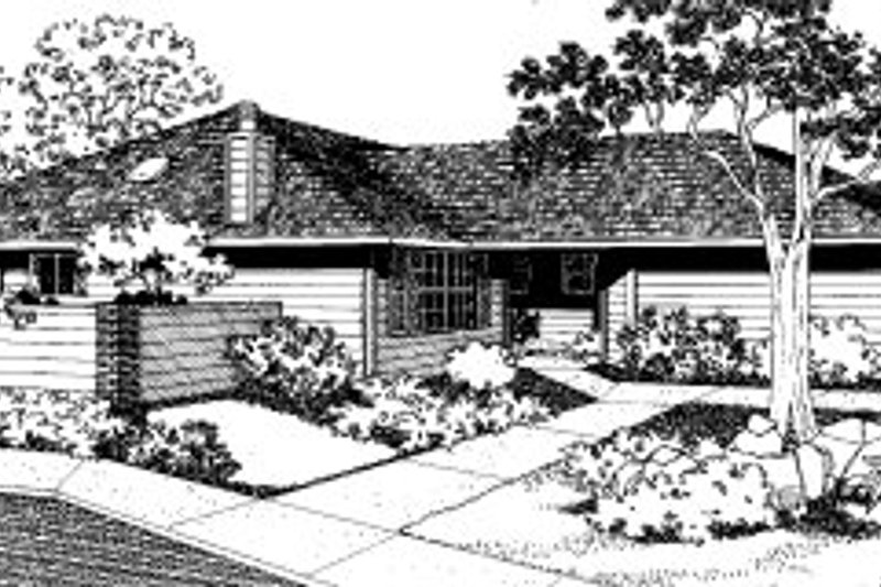 Modern Style House Plan - 3 Beds 2 Baths 2350 Sq/Ft Plan #303-306