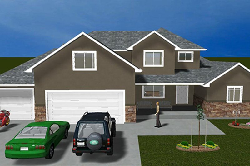 Traditional Exterior - Front Elevation Plan #1060-25 - Houseplans.com