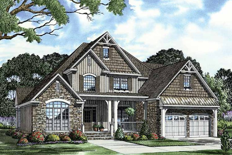 Traditional Exterior - Front Elevation Plan #17-2881
