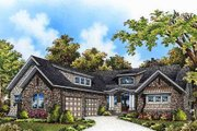 European Style House Plan - 4 Beds 4.5 Baths 3608 Sq/Ft Plan #929-975 Exterior - Front Elevation