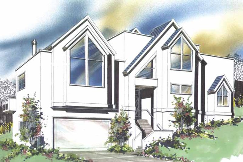 Contemporary Exterior - Front Elevation Plan #509-267