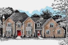 House Plan Design - Traditional Exterior - Front Elevation Plan #20-2300
