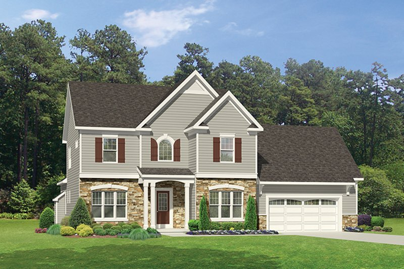 Architectural House Design - Traditional Exterior - Front Elevation Plan #1010-123