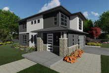 Dream House Plan - Contemporary Exterior - Front Elevation Plan #126-226
