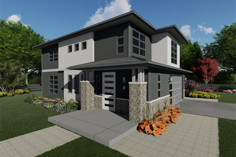 Architectural House Design - Contemporary Exterior - Front Elevation Plan #126-226