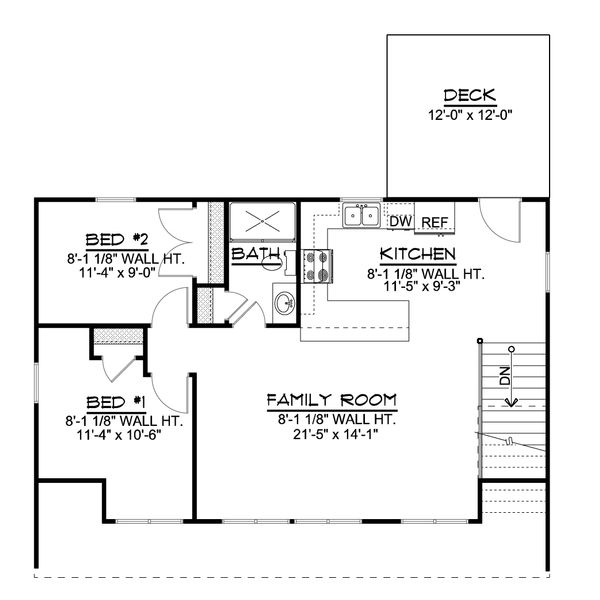 Cottage Floor Plan - Upper Floor Plan Plan #1064-25