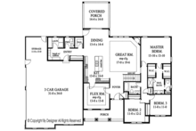 Ranch Floor Plan - Main Floor Plan Plan #1010-194