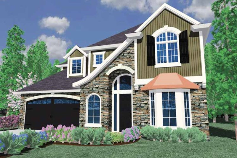 Traditional Exterior - Front Elevation Plan #509-341 - Houseplans.com