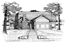 Architectural House Design - Traditional Exterior - Front Elevation Plan #20-453