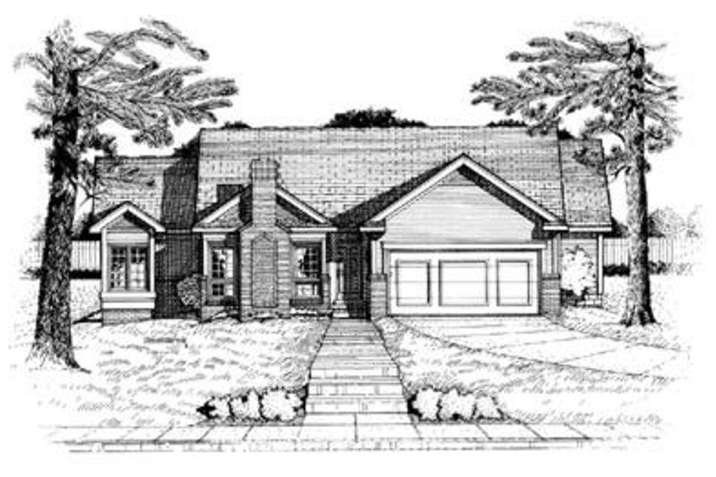 Traditional Exterior - Front Elevation Plan #20-453 - Houseplans.com
