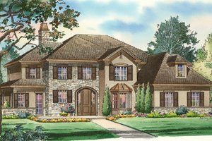 Traditional Exterior - Front Elevation Plan #490-17