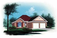 Ranch Exterior - Front Elevation Plan #15-336