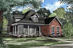 Country Exterior - Front Elevation Plan #17-1018