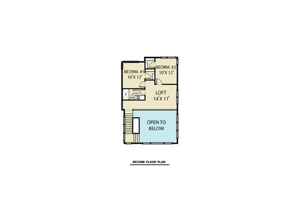 Contemporary Floor Plan - Upper Floor Plan #1070-62