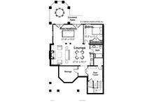 Country Floor Plan - Lower Floor Plan Plan #928-98
