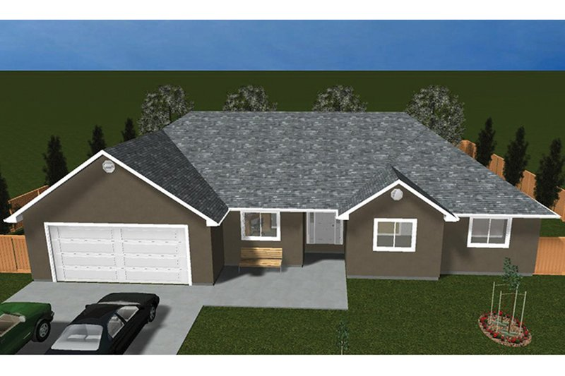 Ranch Exterior - Front Elevation Plan #1060-35 - Houseplans.com
