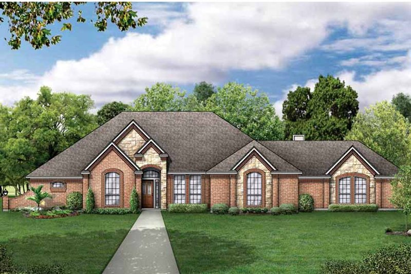 Traditional Exterior - Front Elevation Plan #84-697 - Houseplans.com
