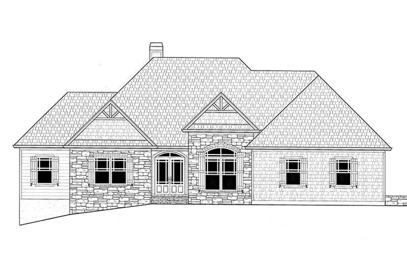 Craftsman Exterior - Front Elevation Plan #437-75 - Houseplans.com