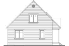 Cottage Exterior - Rear Elevation Plan #23-824