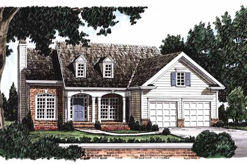 Country Exterior - Front Elevation Plan #927-50