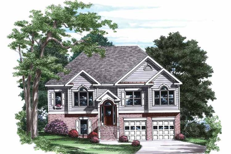 Colonial Exterior - Front Elevation Plan #927-770