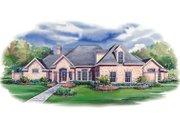 European Style House Plan - 3 Beds 3.5 Baths 3587 Sq/Ft Plan #20-1145 Exterior - Front Elevation