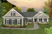 Craftsman Style House Plan - 3 Beds 2 Baths 1800 Sq/Ft Plan #56-631 Exterior - Front Elevation