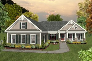 Craftsman, Traditional, Front Elevation,