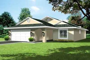 Traditional Exterior - Front Elevation Plan #1-1312