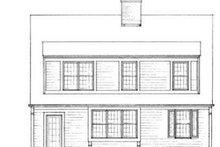 Colonial Exterior - Rear Elevation Plan #72-120