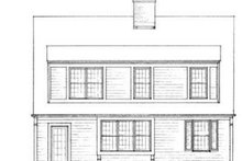 Colonial Exterior - Rear Elevation Plan #72-120