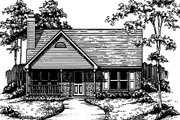Country Style House Plan - 2 Beds 2 Baths 1350 Sq/Ft Plan #30-194 Exterior - Front Elevation