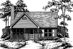 Country Exterior - Front Elevation Plan #30-194