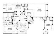 European Style House Plan - 4 Beds 4 Baths 3913 Sq/Ft Plan #411-260 Floor Plan - Main Floor