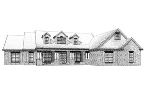 Traditional Exterior - Front Elevation Plan #63-268