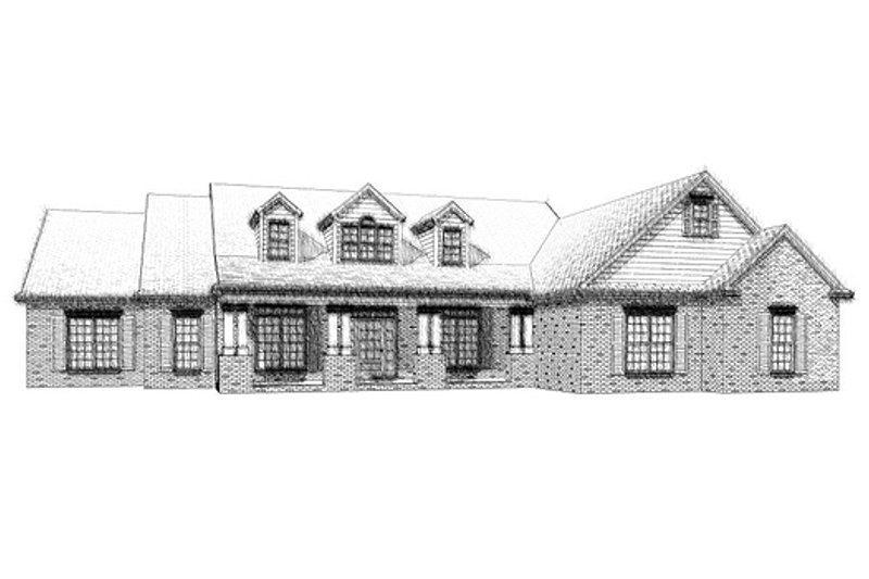 Traditional Style House Plan - 4 Beds 4 Baths 4010 Sq/Ft Plan #63-268 Exterior - Front Elevation