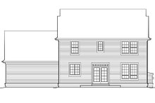 Architectural House Design - Colonial Exterior - Rear Elevation Plan #48-161