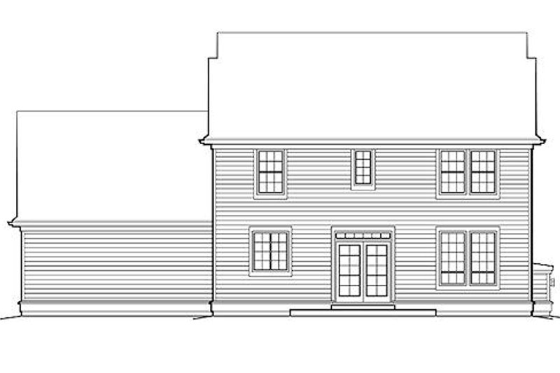 Colonial Exterior - Rear Elevation Plan #48-161 - Houseplans.com