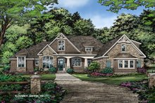 Architectural House Design - Ranch Exterior - Front Elevation Plan #929-1050