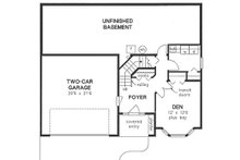 Traditional Floor Plan - Lower Floor Plan Plan #18-1018