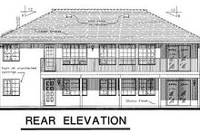 House Blueprint - Ranch Exterior - Rear Elevation Plan #18-122