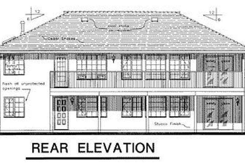 Ranch Exterior - Rear Elevation Plan #18-122 - Houseplans.com