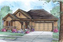 Ranch Exterior - Front Elevation Plan #20-2292