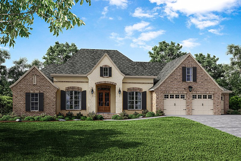House Plan Design - European Exterior - Front Elevation Plan #430-154