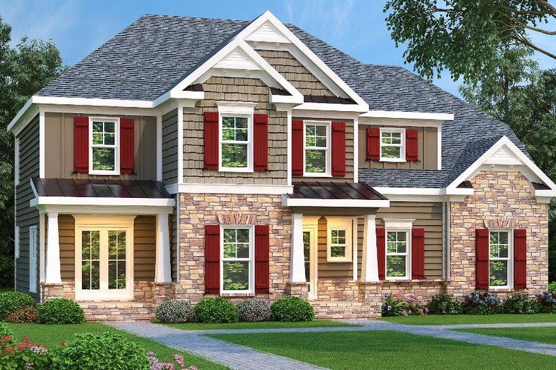 Dream House Plan - European Exterior - Front Elevation Plan #419-149