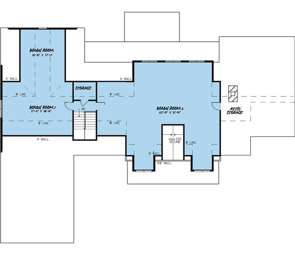 Craftsman Floor Plan - Upper Floor Plan Plan #923-15