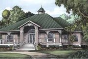 Cottage Style House Plan - 3 Beds 3 Baths 2112 Sq/Ft Plan #115-132 Exterior - Front Elevation